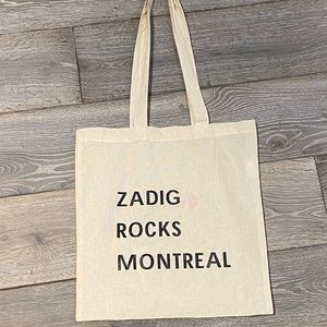 BRAND NEW Zadig & Voltaire Canvas Tote Bag
